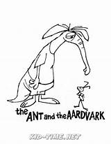 Aardvark Coloring sketch template