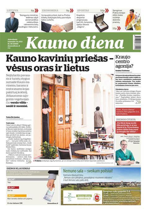 2013-04-30 Kauno diena by Diena Media News - issuu