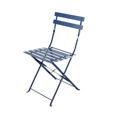 chaises de jardin pliantes 2 chaises pliantes de jardin en métal bleues guinguette