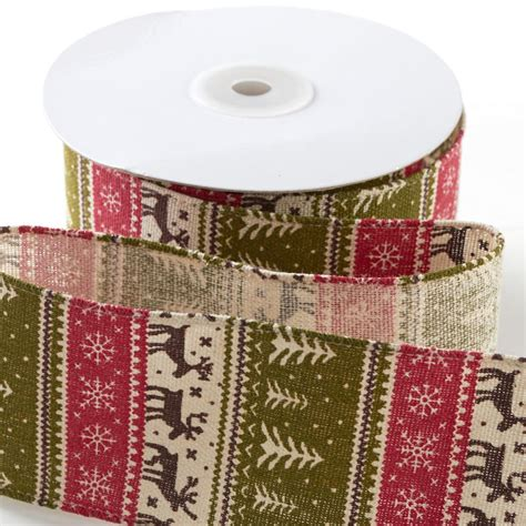 ugly christmas sweater linen wired ribbon ribbon and