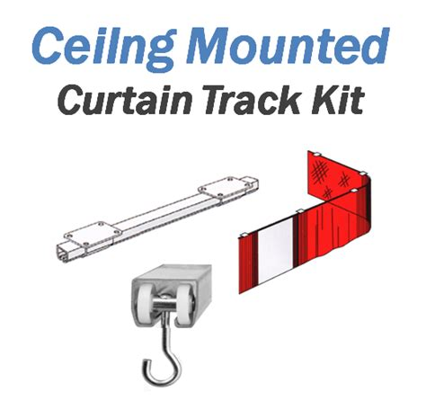 ceiling mount curtain track