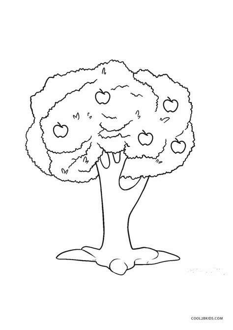 printable tree coloring pages  kids coolbkids