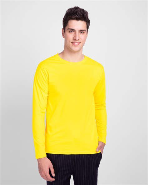 Buy Pineapple Yellow Plain Full Sleeve T-Shirt For Men Online India @ Bewakoof.com