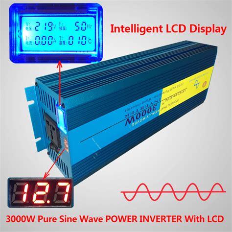 led sine wave power inverter 3000w peak 6000w dc 12v to ac 220v 240v