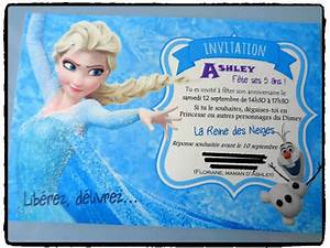 Joyeux Anniversaire Reine Des Neiges : voici des jolies cartes d 39 invitation anniversaire reine ~ Melissatoandfro.com Idées de Décoration