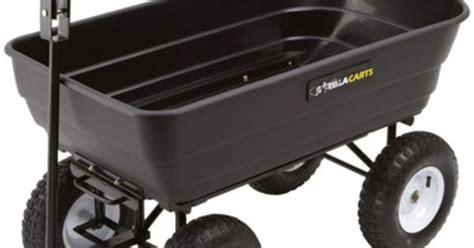 gorilla carts dump cart 40in l x 21 1 2in w 1 000 lb