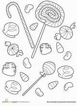 Candy Coloring Pages Printable Halloween Gumdrop Worksheet Sweet Gum Education Lollipops Worksheets Adult Kindergarten Corn Colouring Sheets Drop Cute Doodle sketch template