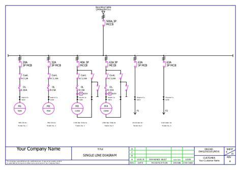 mcc panel wiring ga and bom sle