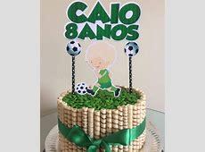 Topper de bolo de Futebol no Elo7 Scrap Kel 93AE93
