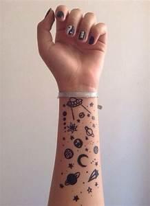 Cute planet and stars tattoo | Tattoos | Pinterest ...