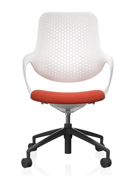 coza fabric plastic chair with swivel base