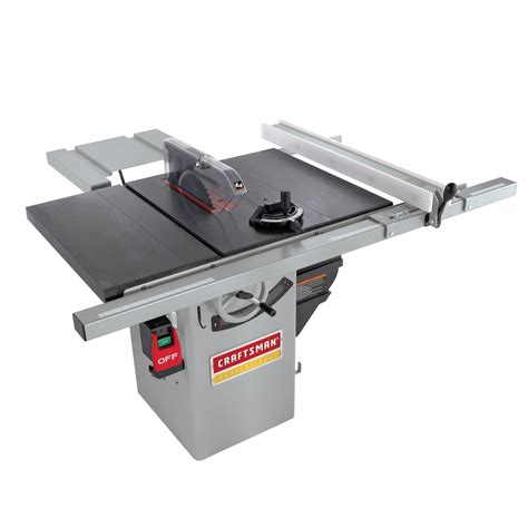 craftsman table saw blade 1 3 4 hp premium hybrid 10 quot table saw serious tool from sears