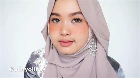 tutorial hijab pashmina wisuda pesta kondangan simple