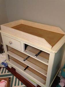 Convert a dresser into a changing table! Numbers & Nails