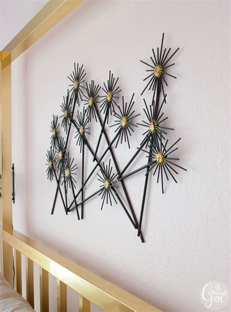 """Easily transform any space with our affordable, diy backsplash products. DIY """"Metal"""" Flower Wall Hanging - The Gathered Home"""