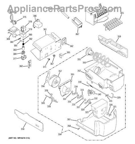 parts  ge psspswass ice maker dispenser parts appliancepartsproscom