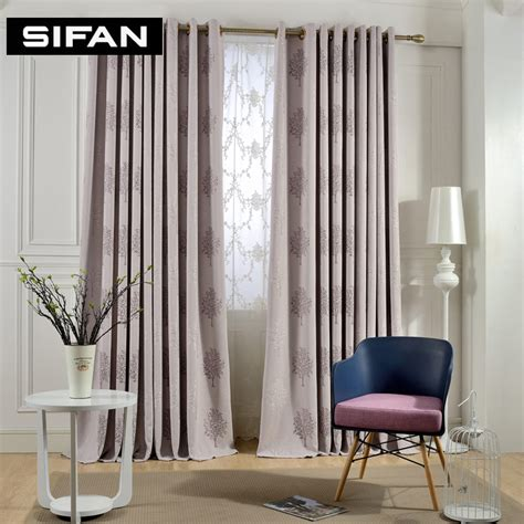 purple coffe tree jacquard blackout curtains for living
