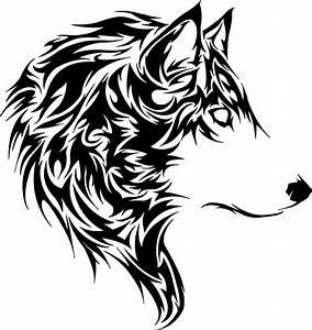 Tatouage Loup Graphique : tribal animal tattoo tete de loup tribal wood working ~ Mglfilm.com Idées de Décoration