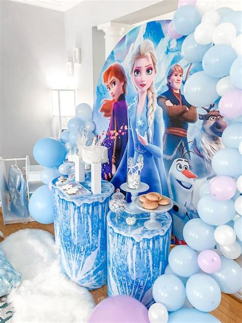 frozen themed sleepover party pretty  party party ideas