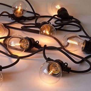 Guirlande Lumineuse Ampoule : guirlande lumineuse bella vista clear led pour l 39 ext rieur ampoules filament c ble noir ~ Teatrodelosmanantiales.com Idées de Décoration