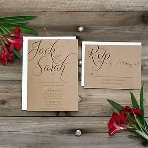 printed country rustic wedding invitation package printed With wedding invitation envelope packing