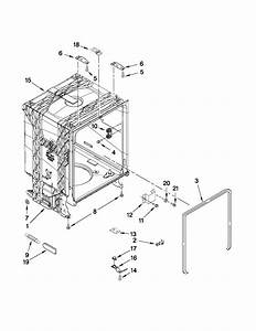 Tub And Frame Parts Diagram  U0026 Parts List For Model