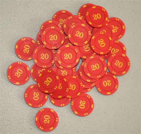 meeplesourcecom numbered mini poker chips red