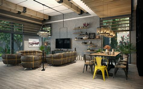 An Industrial-Inspired Apartment With Sophisticated Style : Types Of Industrial Loft Apartment Designs Which Applied