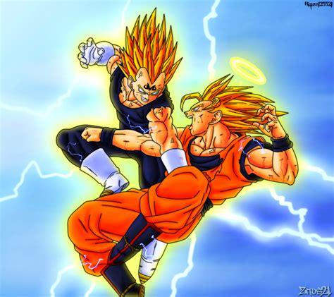 Majin L Vs Goku by Goku Vs Majin Vegeta Colab By Grim Zitos On Deviantart