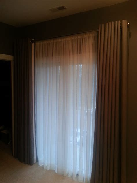 grommet drapes with sheers behind