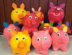 Sparschwein Aus Pappmache : klassenkunst sparschweine aus pappmach mathematik grundschule pappmache sparschwein und ~ Orissabook.com Haus und Dekorationen