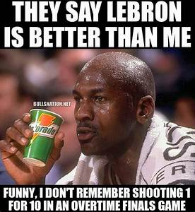 Michael Jordan - Lebron James Meme