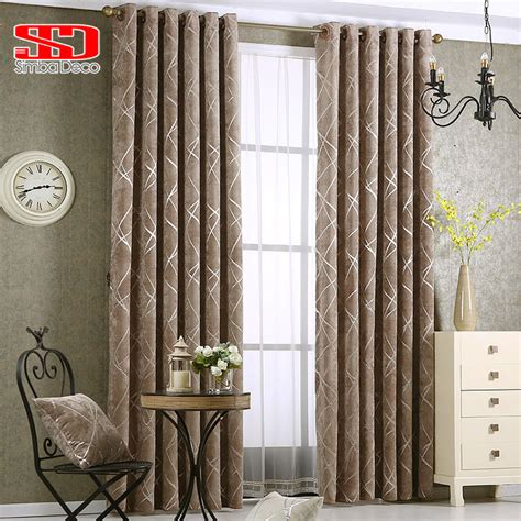 chenille jacquard silver blackout curtains  bedroom
