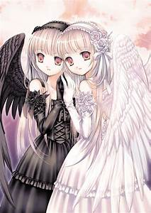 Light & dark angels | Anime | Pinterest | Angel, Anime and ...