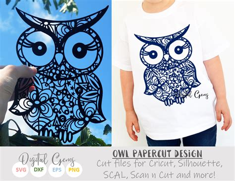 owl svg dxf eps files sofontsy