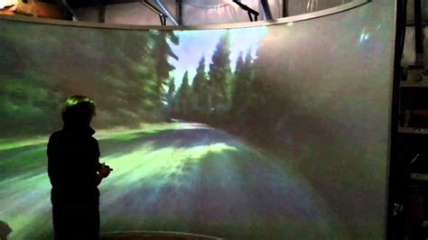 big curved  degree video front projection game screen