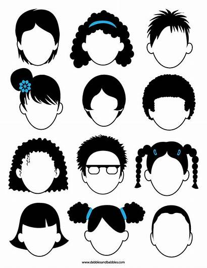 Blank Faces Coloring Printable Face Feeling Pages