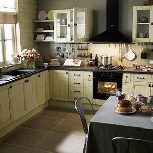 Cuisine Le Roy Merlin : meuble de cuisine beige delinia tradition leroy merlin ~ Dailycaller-alerts.com Idées de Décoration