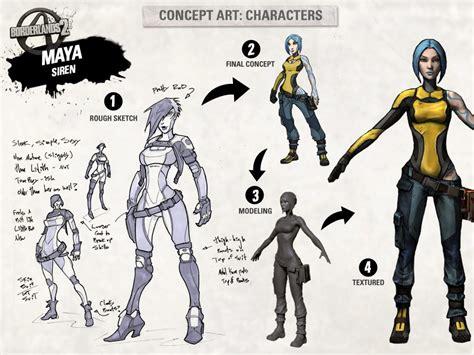 Borderlands 2 Character Concept Art Pushstartplay
