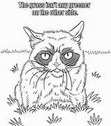 Grumpy Coloring Welcome Dover Desenhos Colorir Adult Publications David Animal Kleurplaat Gato Gatos Animais Doverpublications Enregistree Depuis sketch template