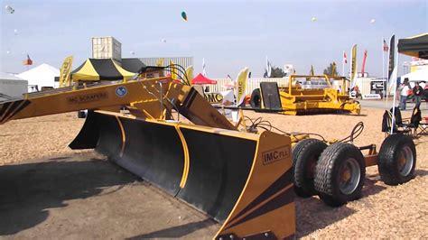 imc scrapers fll folding land leveler series youtube