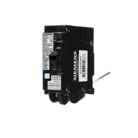 Siemens Amp Single Pole Wireguide Dual Function Afci
