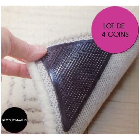 coins anti glisse repositionnables pour tapis lot de 4