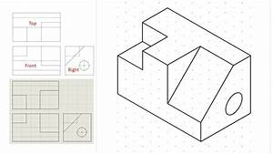 Isometric View Drawing Example 1  Easy   Links To Practice