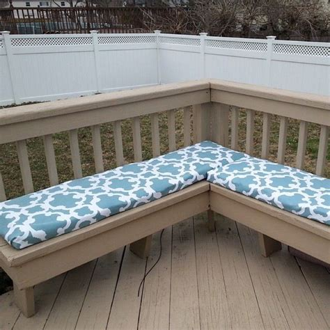How To Make Outdoor Bench Cushions by Easy No Sew And Budget Friendly Bench Cushions For Patio