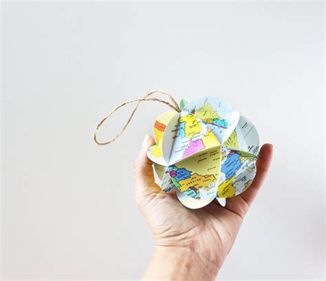 diy map ornament kit make your own ornament from world maps