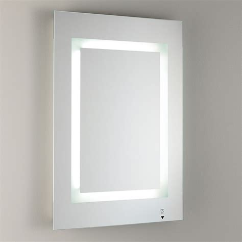 Glass Bathroom Mirrors by Bathroom Illuminated Mirror With Frosted Glass Furnish
