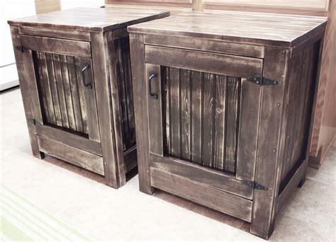 diy restoration hardware nightstands