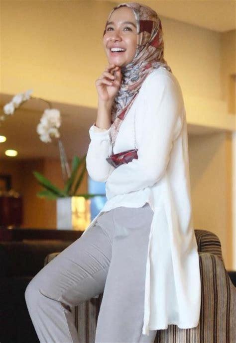 hijab casual ala laudya cynthia bella ide model busana