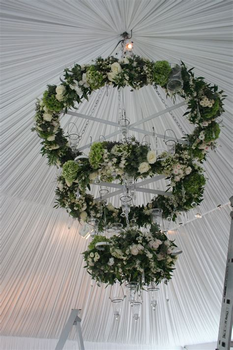 Crazy Cool Hanging Floral Suspended Chandelier Wedding